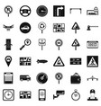 city traffic icons set simple style vector image vector image
