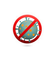 coronavirus stop pandemic alert vector image vector image