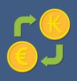 Currency exchange Euro and Kip vector image vector image