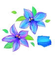 cute flower on white background vector image vector image