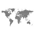 detailed world map vector image vector image
