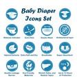 diaper characteristics icons set vector image