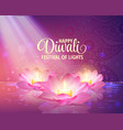 diwali greeting background 3d festival of vector image