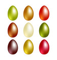 easter eggs with vector image