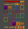 Elements for slots game vector image vector image