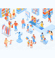 family shopping isometric vector image vector image