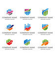 financial market logo vector image
