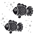 fish black vector image vector image