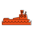 fishing boat icon image vector image vector image