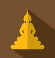 Flat Design Buddha Icon vector image vector image