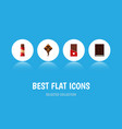 flat icon cacao set of chocolate sweet delicious vector image vector image