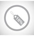 Grey discount sign icon vector image vector image