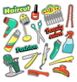 Hair Beauty Salon Patches Badges Stickers vector image