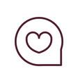 happy valentines day bubble heart love romantic vector image