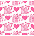 heart sharp wedding couple seamless pattern vector image vector image
