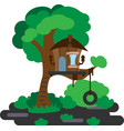 house on a tree vector image vector image