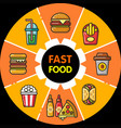 infographic food icons fast food vector image