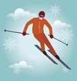 isometric isolated man skiier urban style vector image vector image