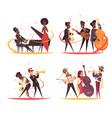 jazz musicians design concept vector image