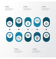 job outline icons set collection of mail vector image vector image