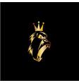 king gorilla icon logo vector image vector image