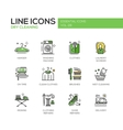 Laundry - line design icons set vector image