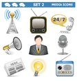 Media Icons Set 2 vector image