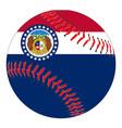 missouri flag baseball vector image vector image