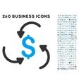Money Swirl Icon with Flat Set vector image vector image