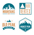 mountain logotypes with hill peaks minimal retro vector image