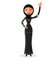 muslim woman waving her hand in traditional vector image vector image