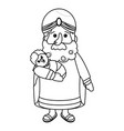 nativity wise man cartoon vector image vector image