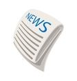 News cartoon icon vector image vector image