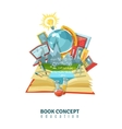 Open Book Education Concept Abstract Composition vector image