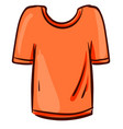 orange man shirt on white background vector image vector image