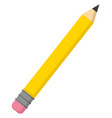 pencil on white background vector image vector image
