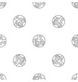 pluto planet pattern seamless vector image