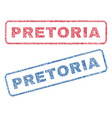 pretoria textile stamps vector image vector image