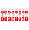 realistic red price tags collection special offer vector image