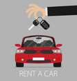 rent a car design vector image