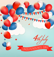 Retro american background with colorful balloons vector image vector image