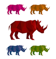 rhino mozaic vector image vector image