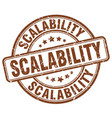 scalability brown grunge stamp vector image vector image