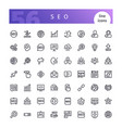 seo line icons set vector image