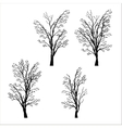 set of trees silhouettes vector image vector image