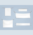 set white blank textile banners vector image vector image