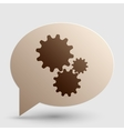 Settings sign Brown gradient icon on vector image vector image