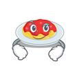 smirking spaghetti character cartoon style vector image vector image