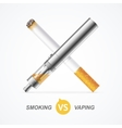 Smoking vs Vaping vector image