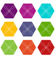 spanner icons set 9 vector image vector image